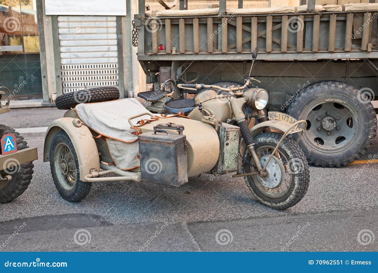 German Military Bike BMW R75 Editorial Photo - Image of historical