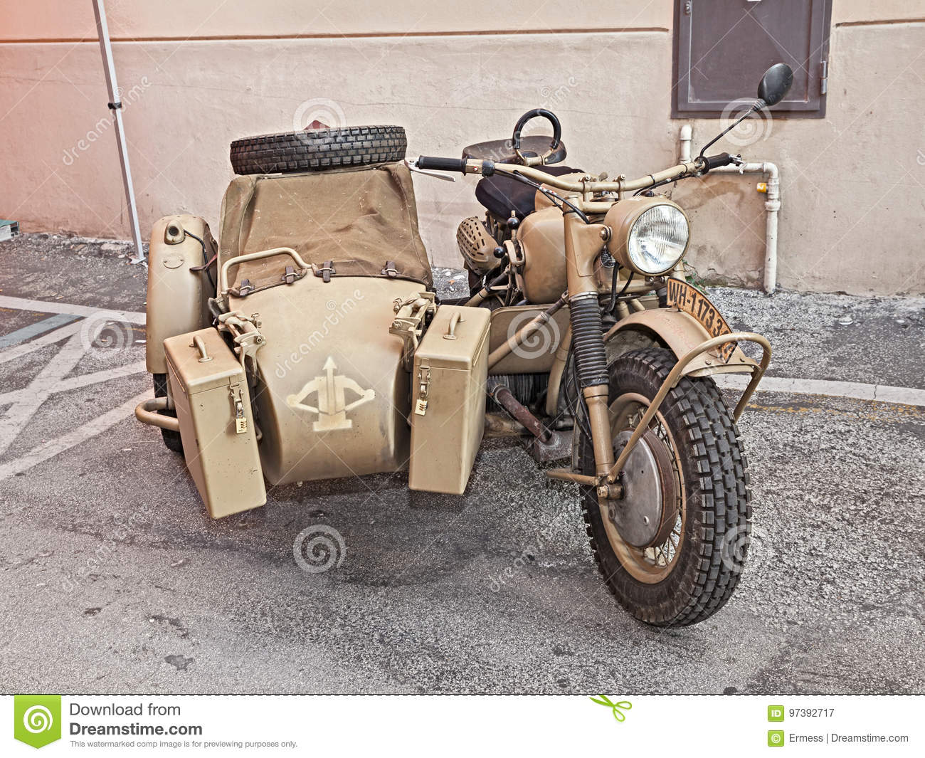 German Military Bike BMW R75 Editorial Photography - Image of