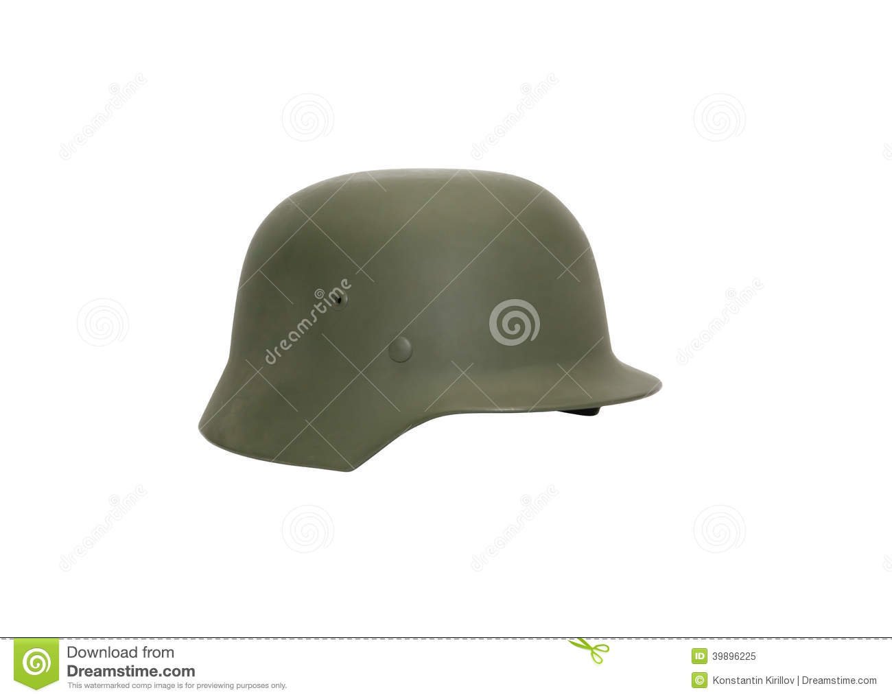 German Military Helmet stock image  Image of german, green - 39896225