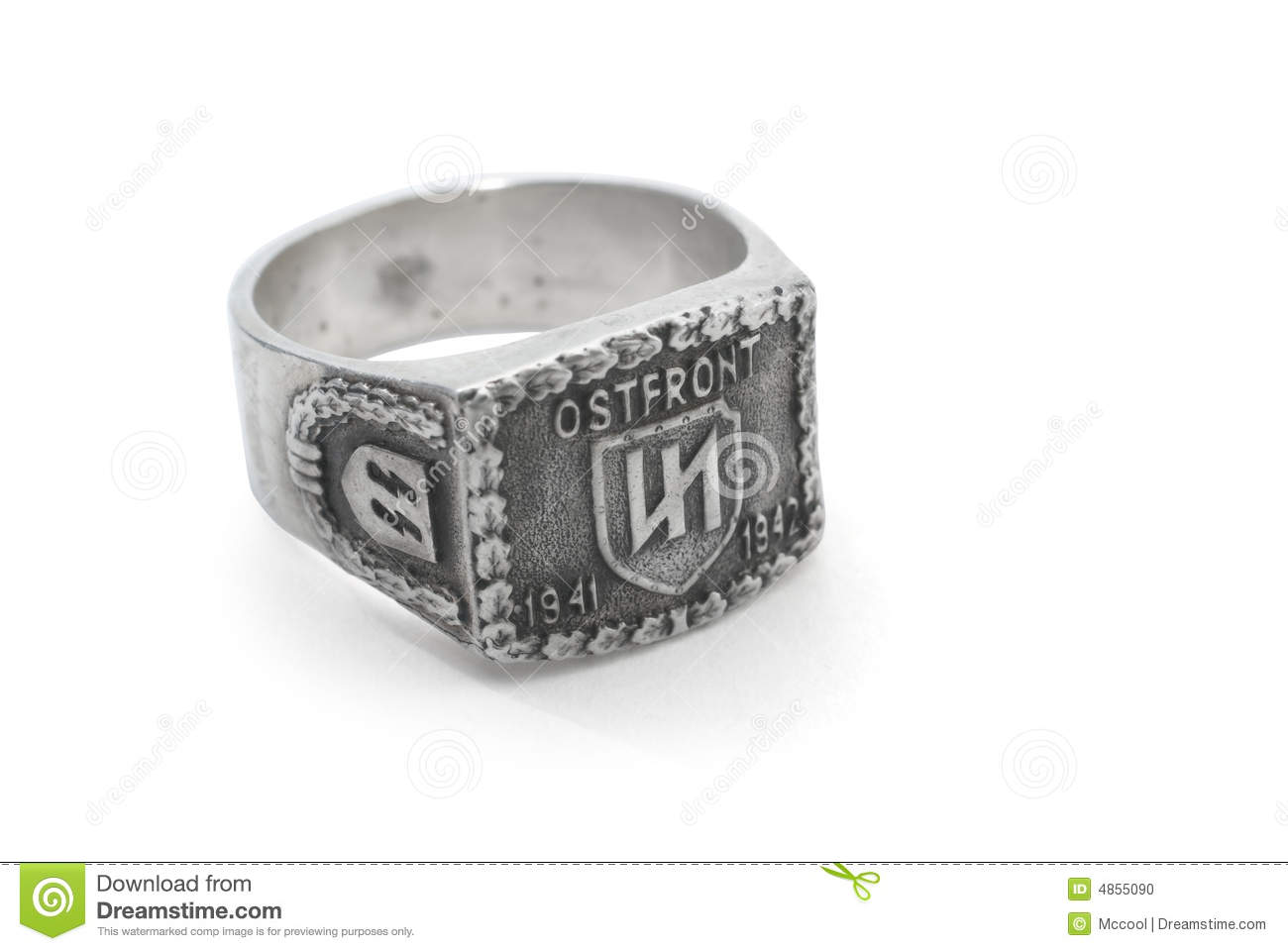 German Old Army Ring Stock Photo Image 4855090