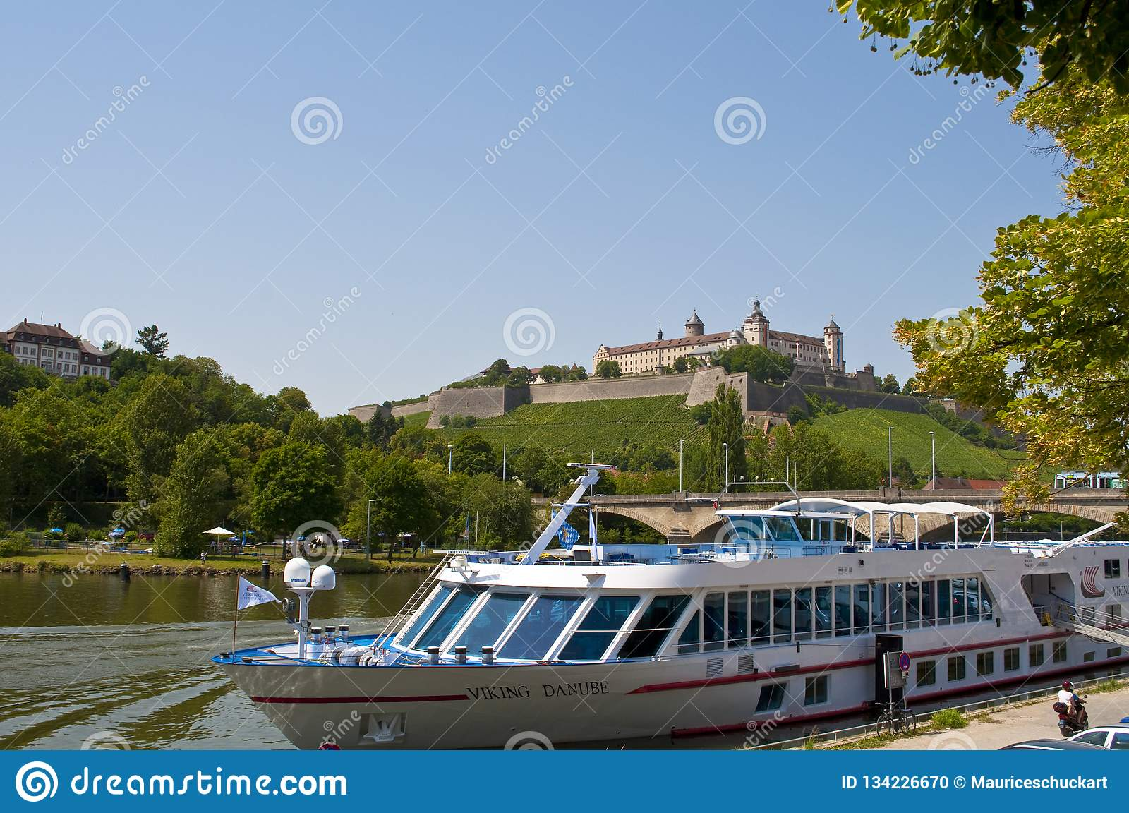 German old town würzburg at the river Danube