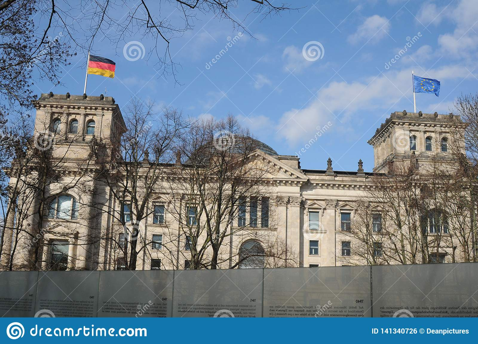 GERMAN PARLIAMENT BUILDING REICHTAG AND BUNDESTAG