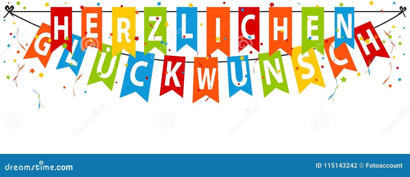 german party banner herzlichen glckwunsch translation happy birthday
