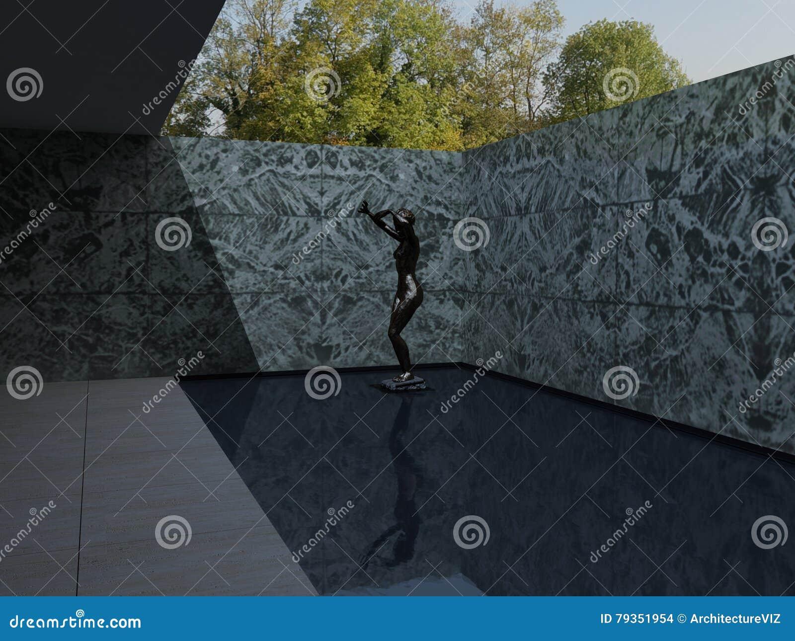 German Pavilion Barcelona Mies Van Der Rohe Stock Photo Image Of