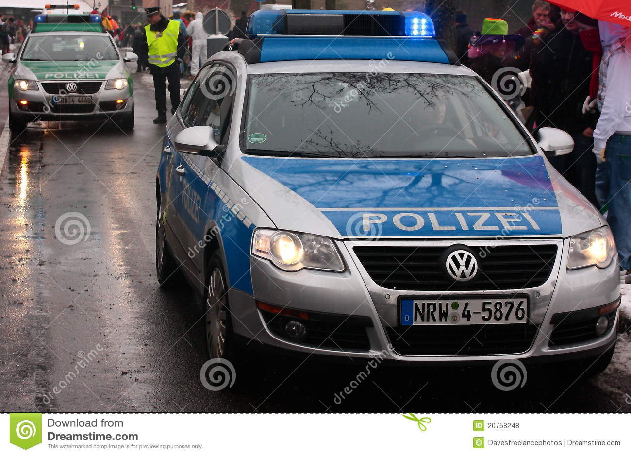 German Police cars editorial stock photo. Image of ...