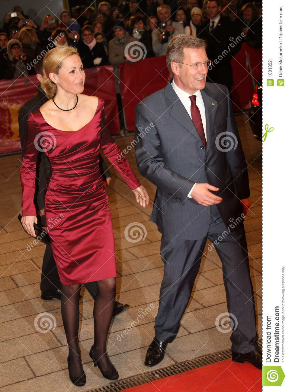 German President Christian Wulff And His Wife Bet ...