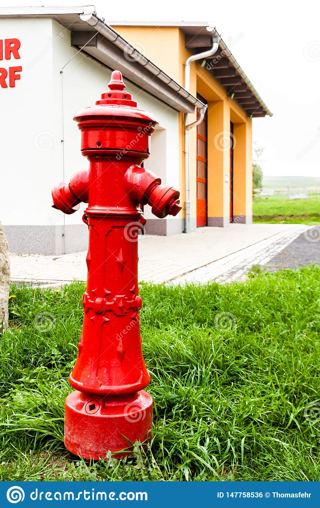 Hydrant in front of a fire station
