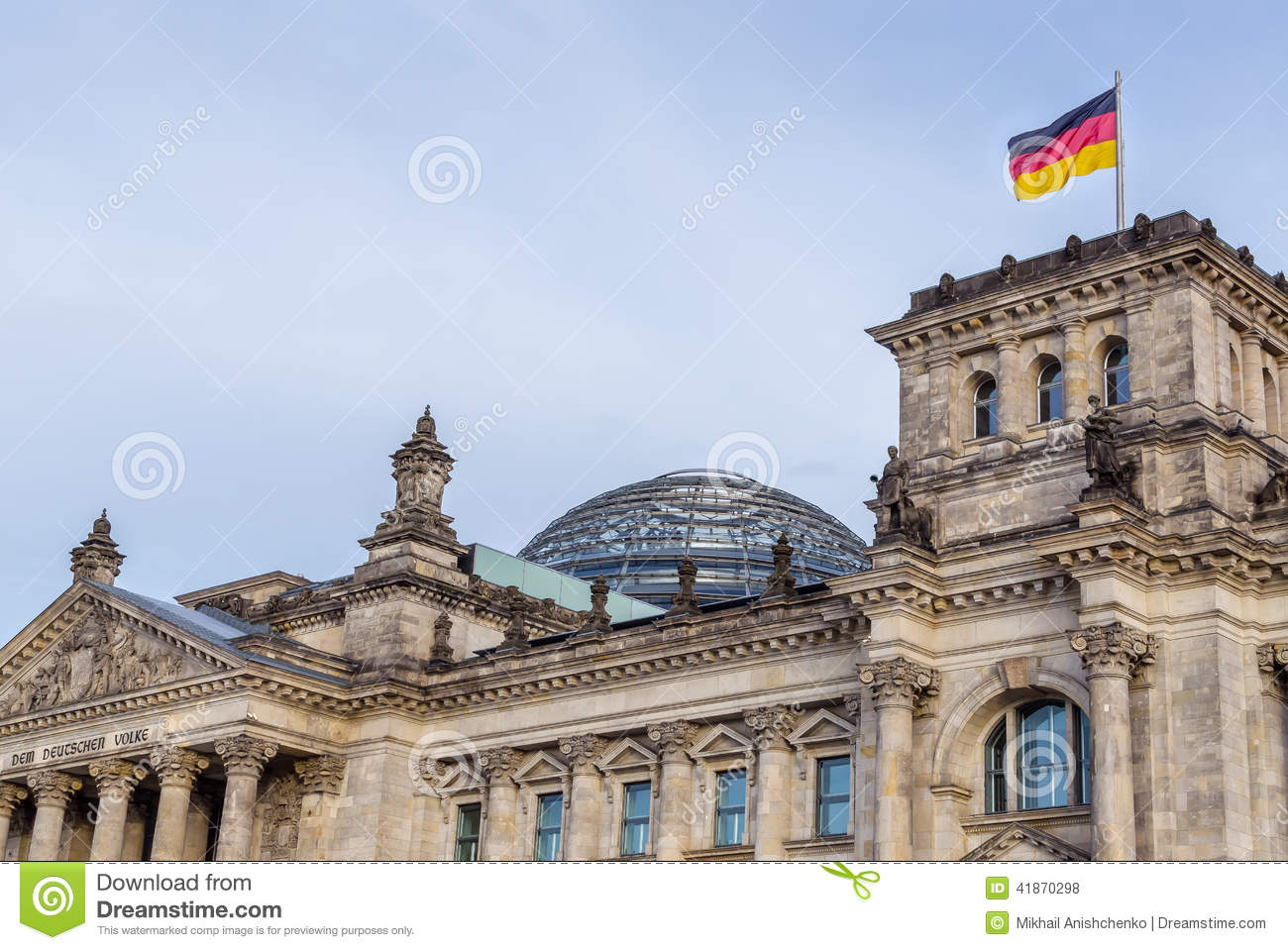 the german reichstag building in berlin editorial stock photo