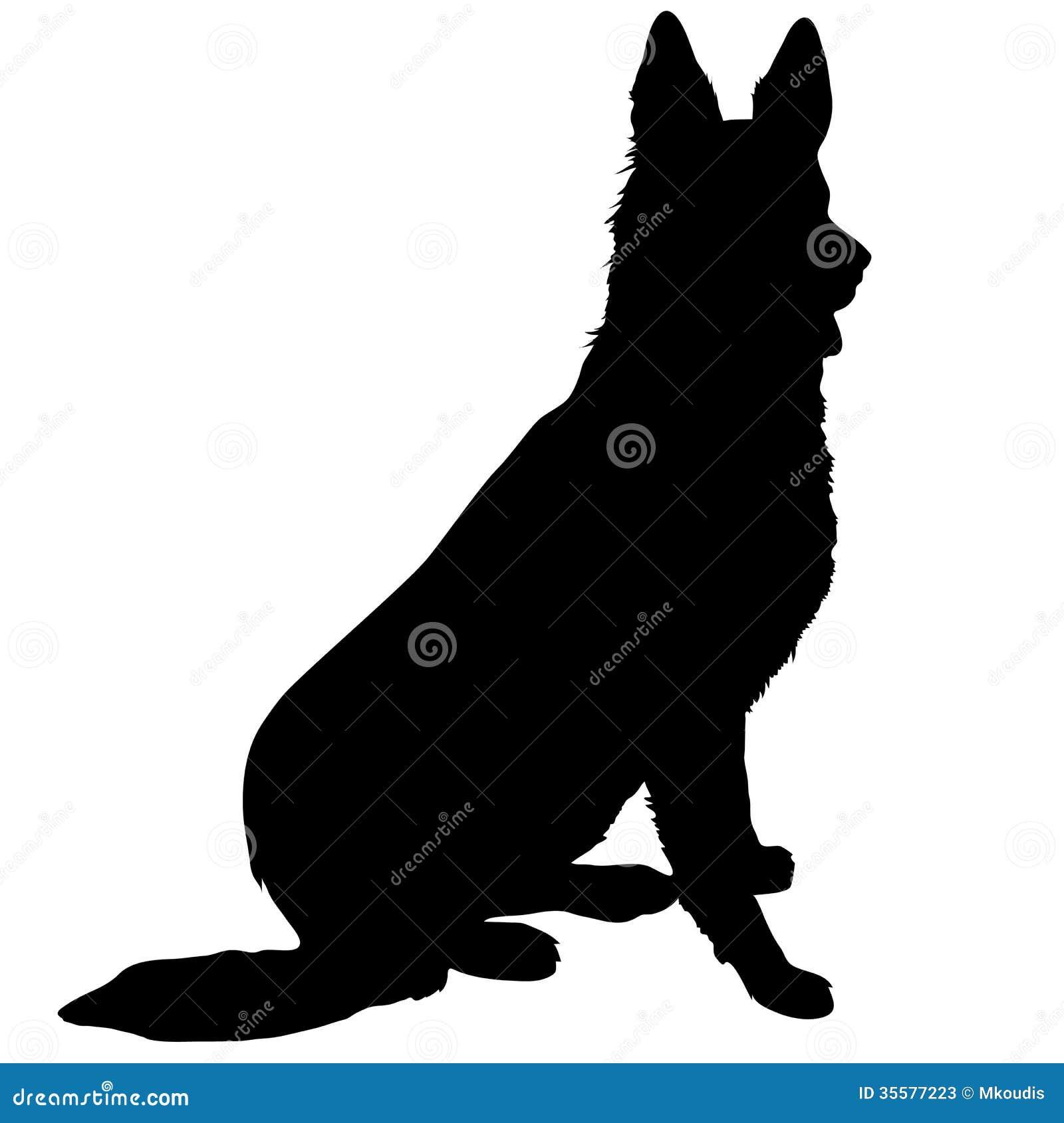 German Shepherd Silhouette Stock Photos - Image: 35577223