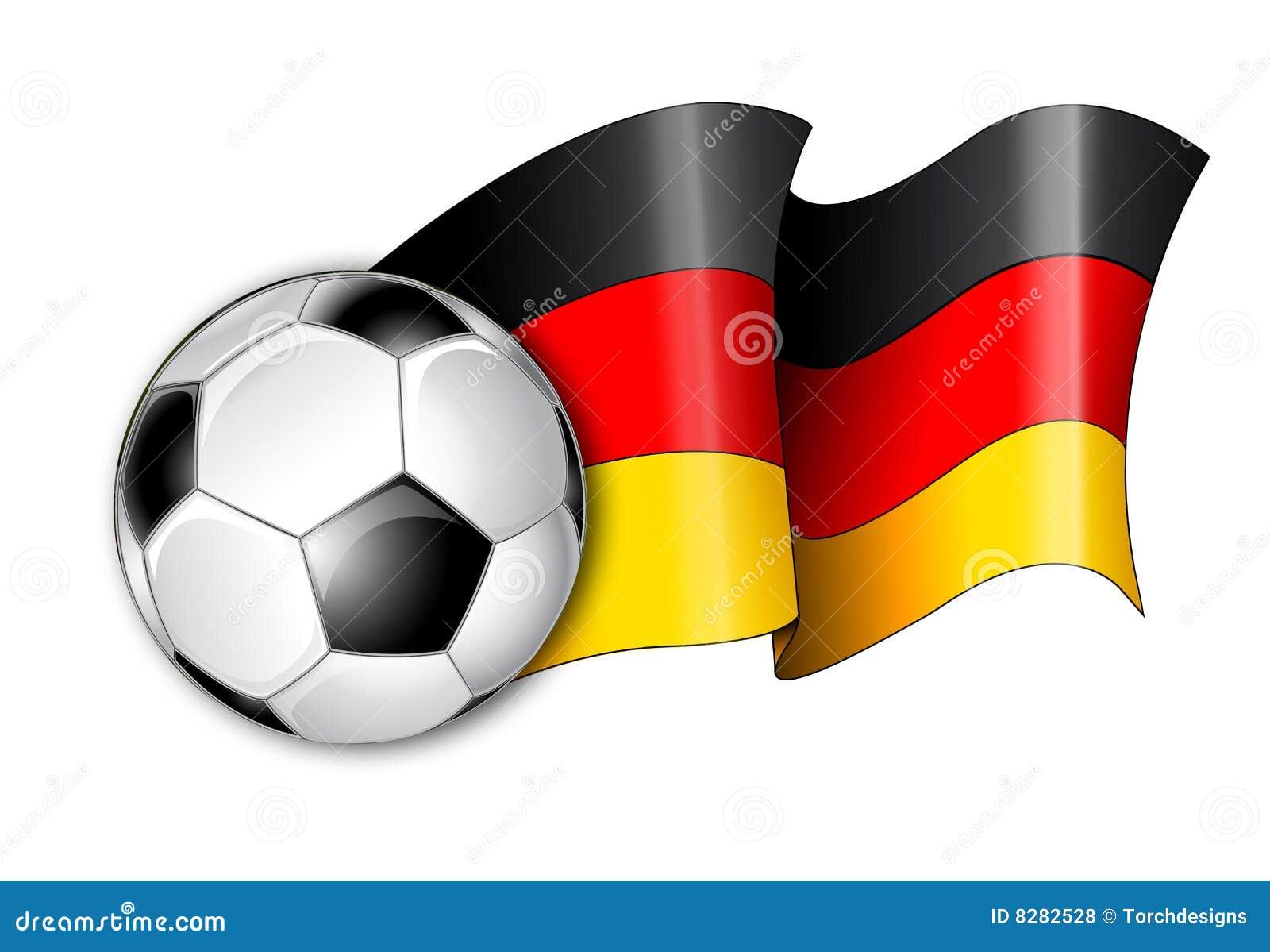 german soccer flag illustration royalty free stock photos