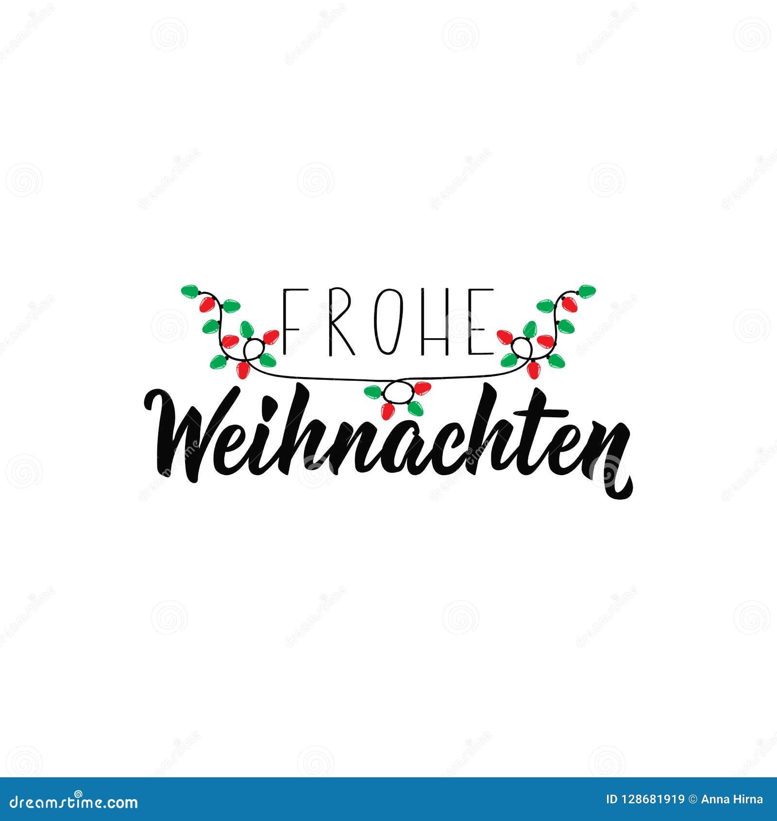 german text merry christmas lettering banner. Black Bedroom Furniture Sets. Home Design Ideas