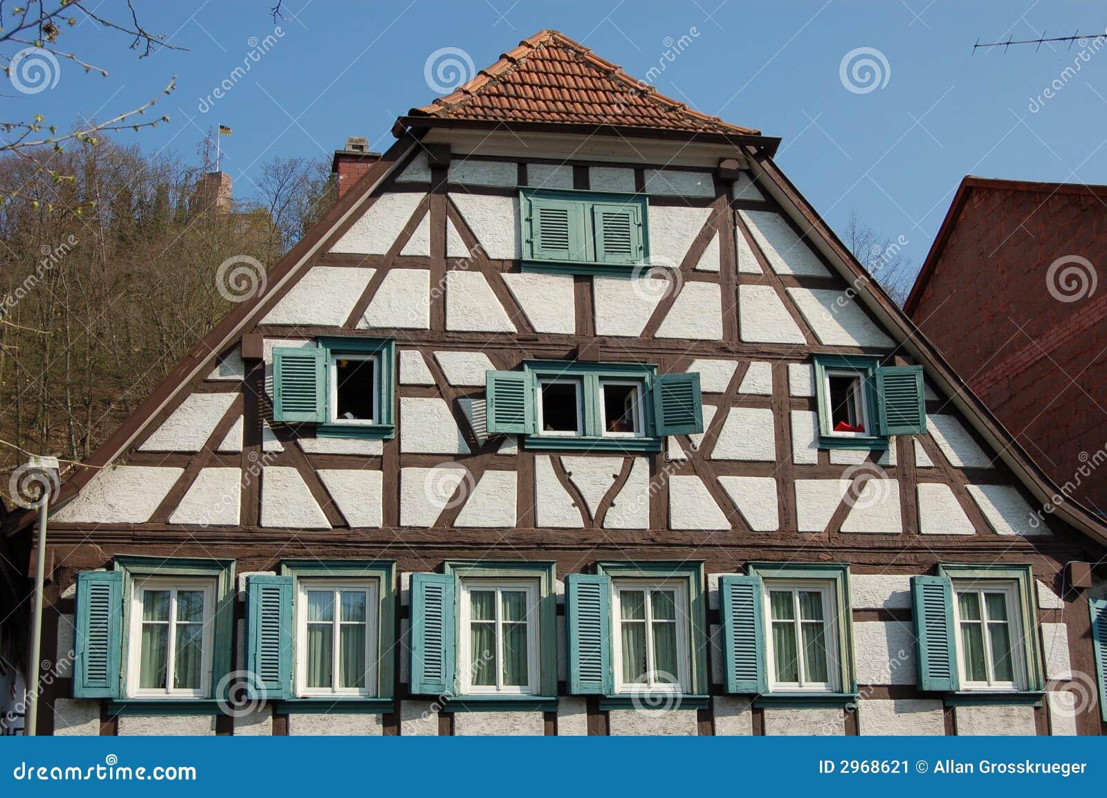 German Timber House Stock Image - Image: 2968621