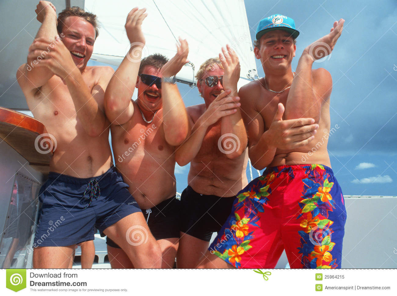 German Tourists Partying At The Beach Editorial Image ...