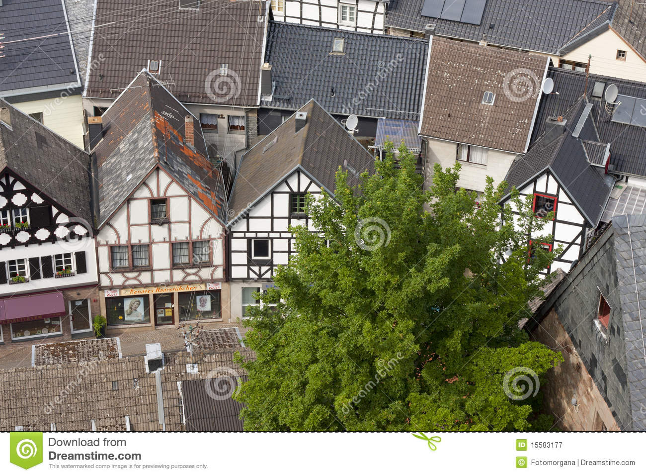 German Village Small City Royalty Free Stock Photography