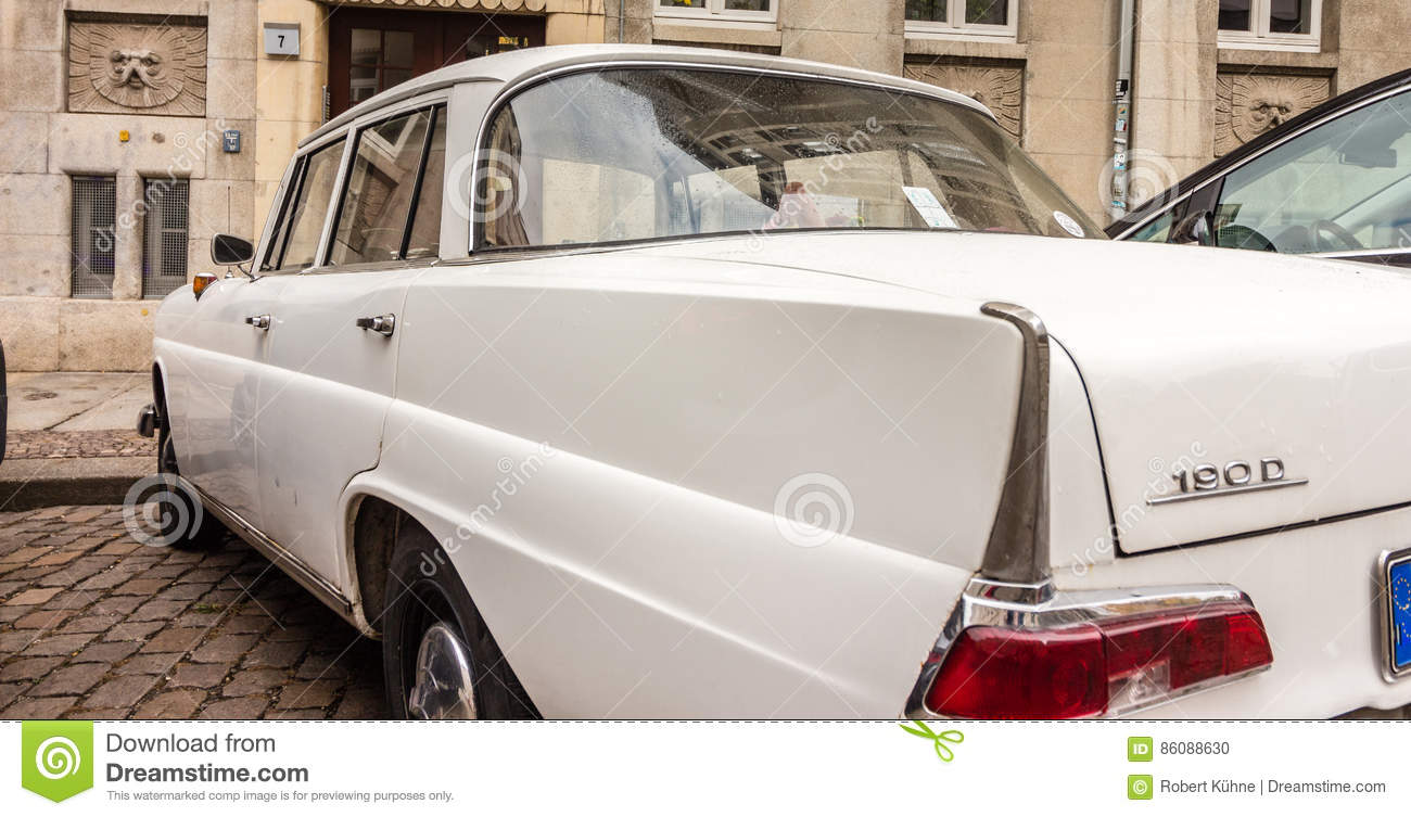 German vintage car with tail fin