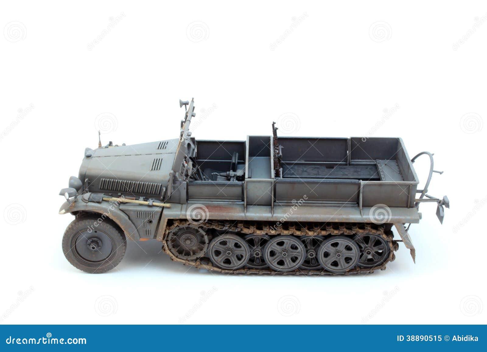 World War II German 1 ton halftrack prime mover somewhere on Ost front ...