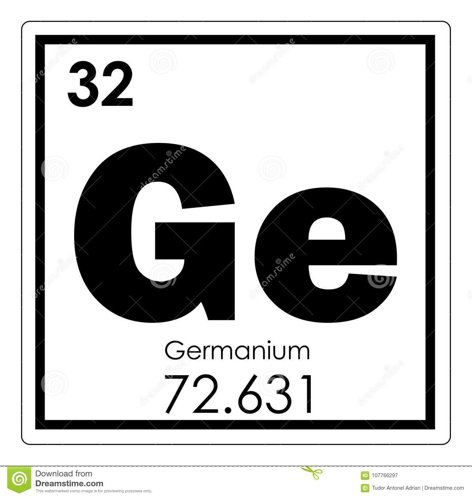 Germanium Chemical Element Stock Illustration Illustration Of
