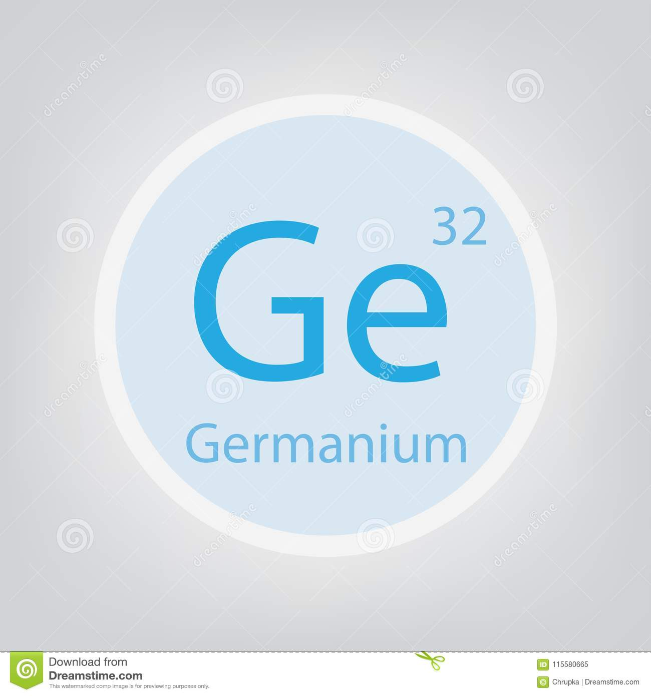 Germanium Ge Chemical Element Icon Stock Vector Illustration Of