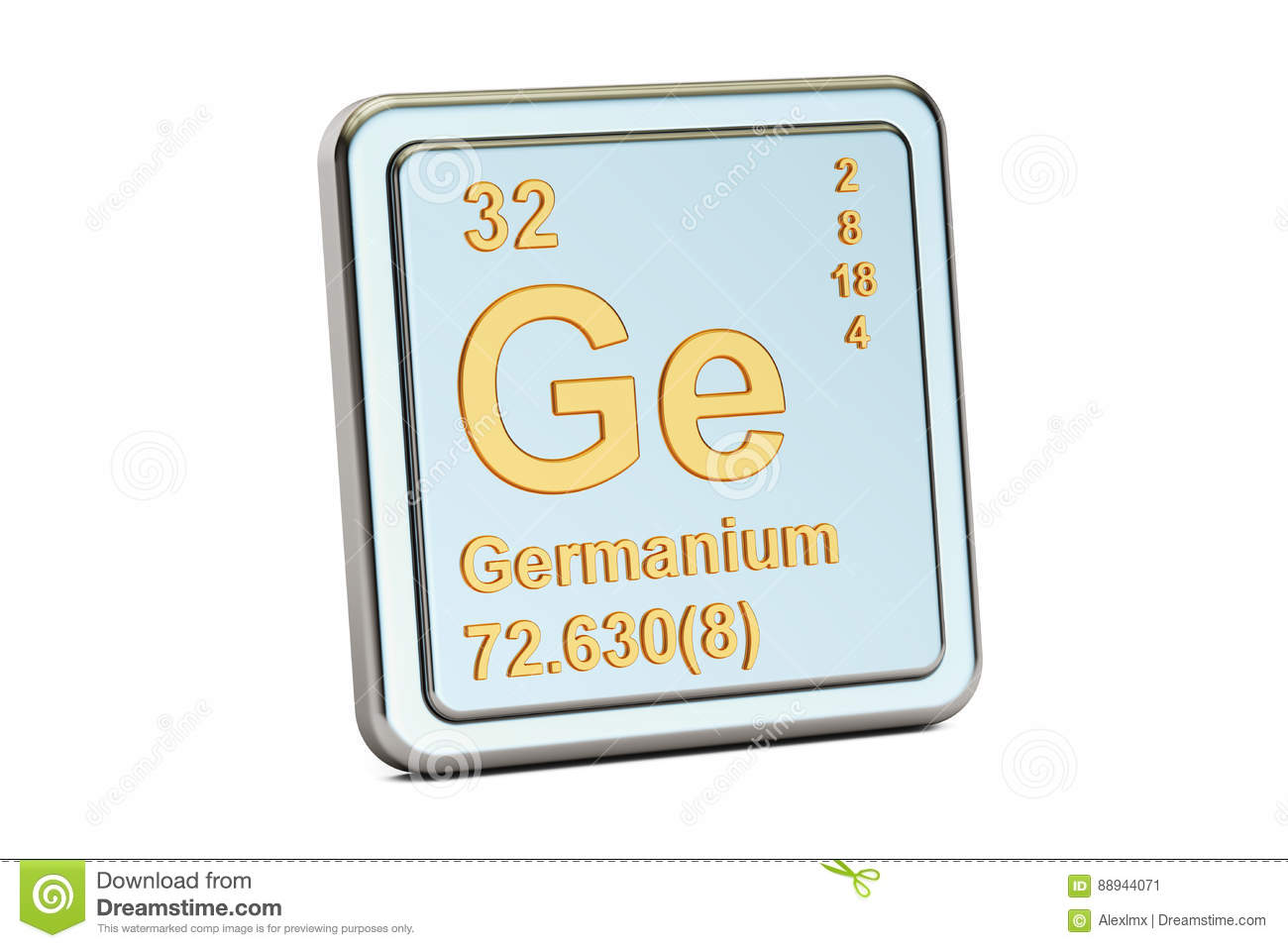 Germanium Ge Chemical Element Sign 3d Rendering Stock Illustration
