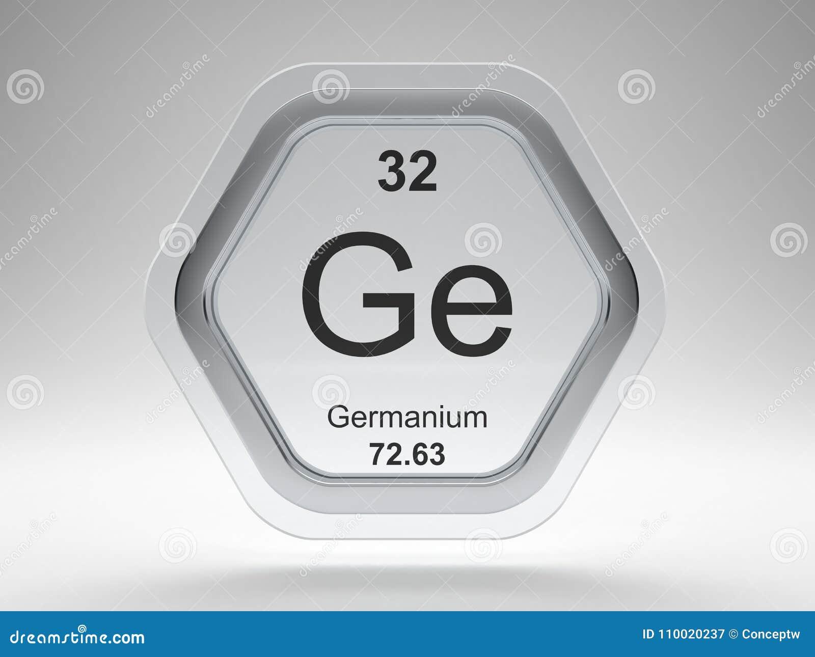 Germanium Symbol Hexagon Frame Stock Illustration Illustration Of