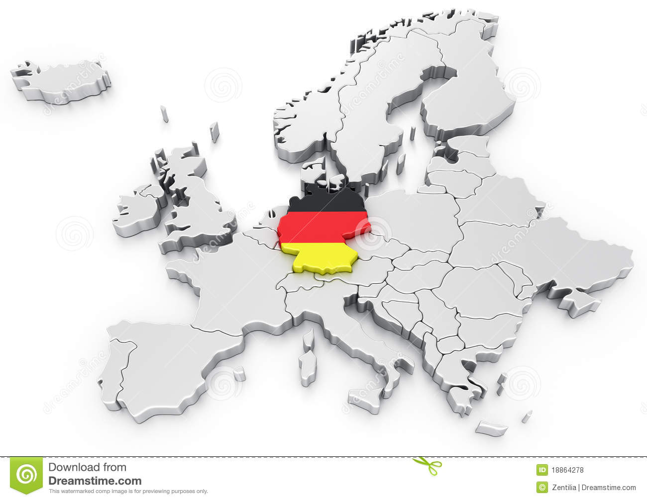 {Germany On Europe Map Images Image 4291054 – Germany in Europe Map