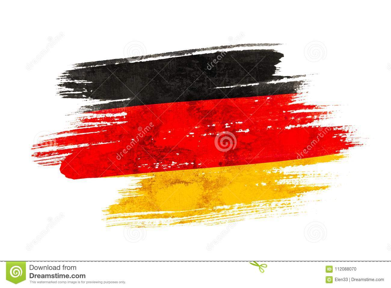 Germany Flag Stock Illustration Illustration Of Brush 112088070
