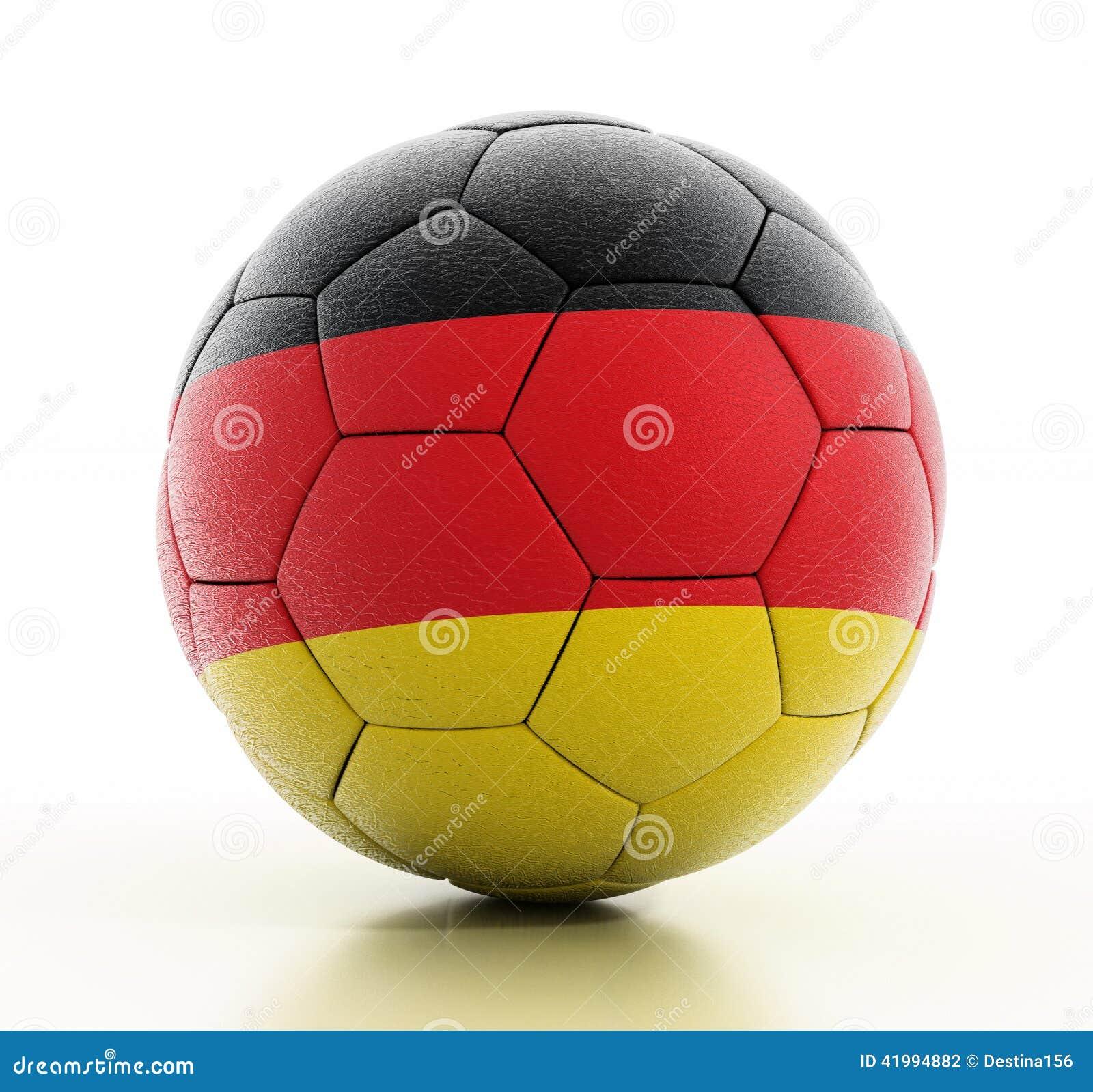 Germany flag on football stock photo. Image of flag ...