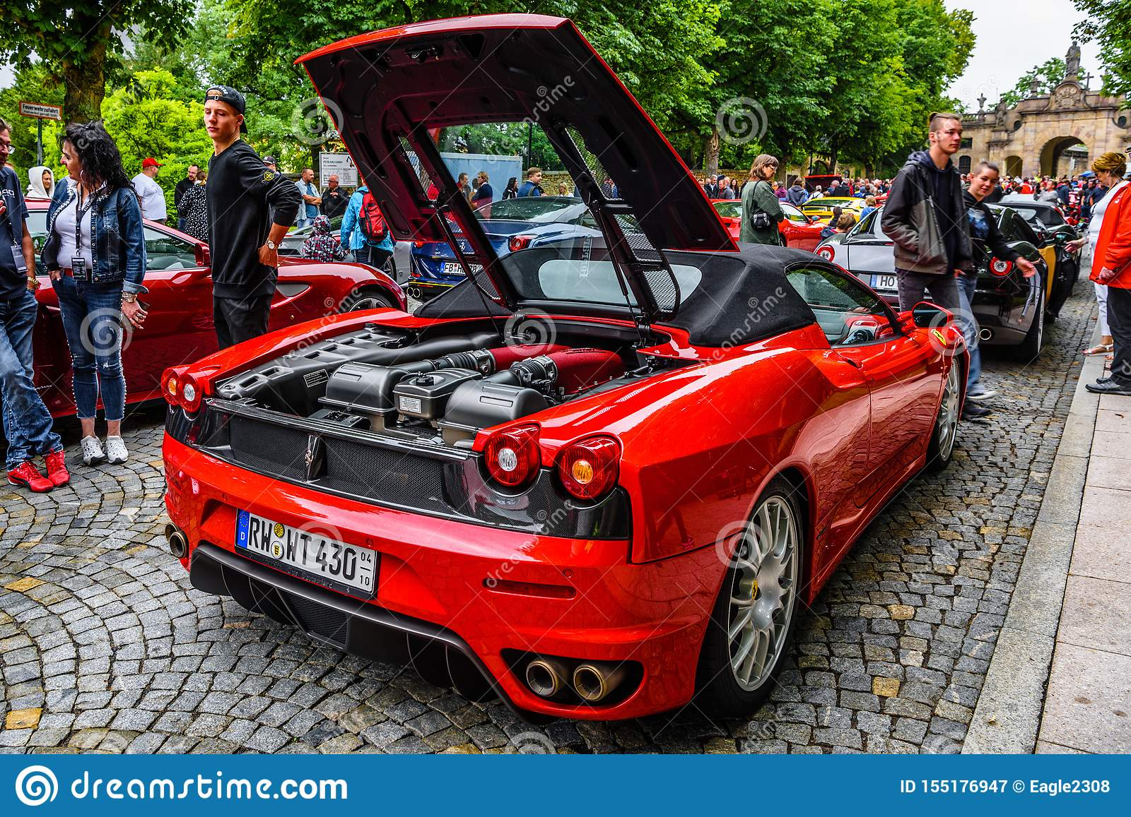 Germany Fulda Jul 2019 Motor Of Red Ferrari F430 Type F131 Cabrio Is A Sports Car Produced By The Italian Automobile Editorial Photography Image Of Enzo Luxury 155176947