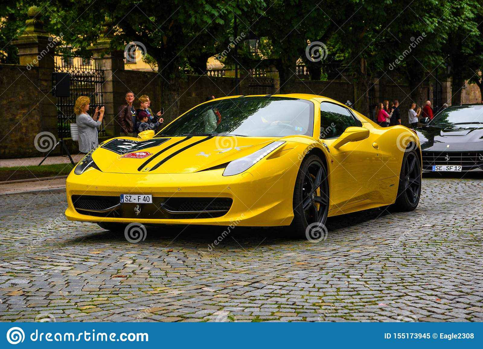 Germany Fulda Jul 2019 Yellow Ferrari 458 Spider Coupe Was I Editorial Image Image Of Italia Dimensional 155173945
