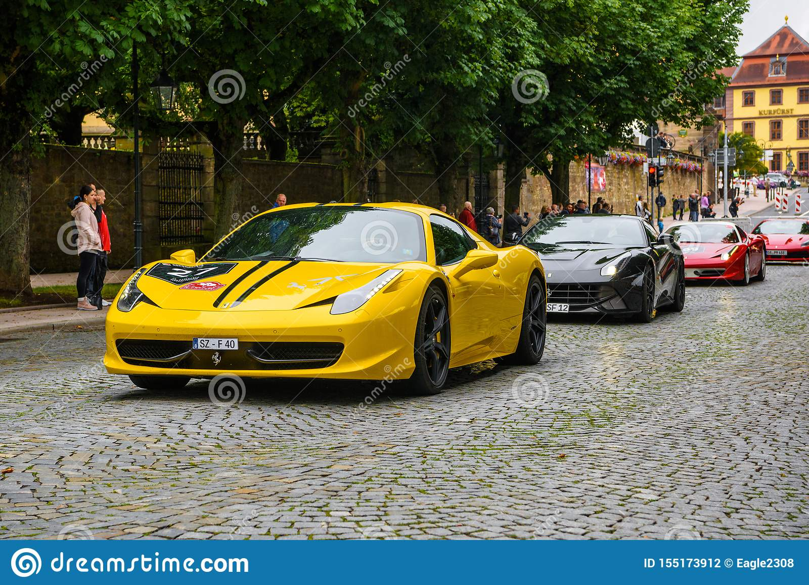 Germany Fulda Jul 2019 Yellow Ferrari 458 Spider Coupe Was Introduced At The 2011 Frankfurt Motor Show This Convertible Editorial Photography Image Of Front Italia 155173912