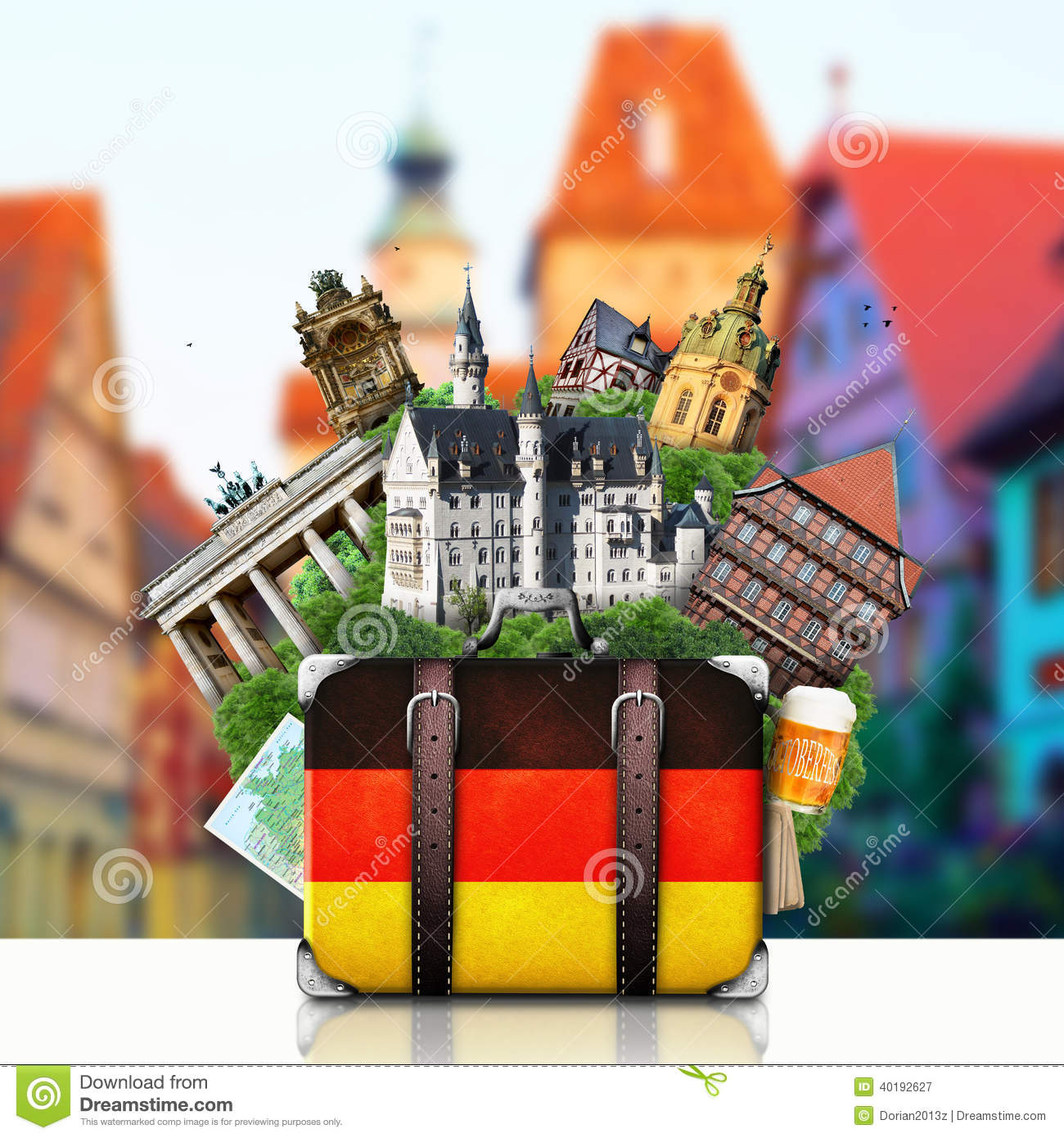I Want To Visit Germany In German: Germany, German Landmarks, Travel Stock Photo