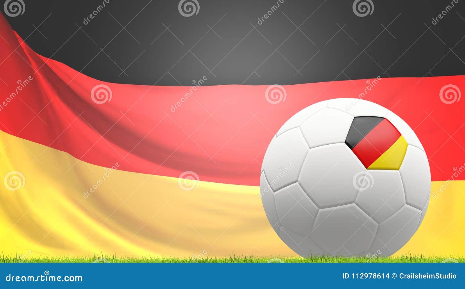 Germany german soccer football ball 3d rendering