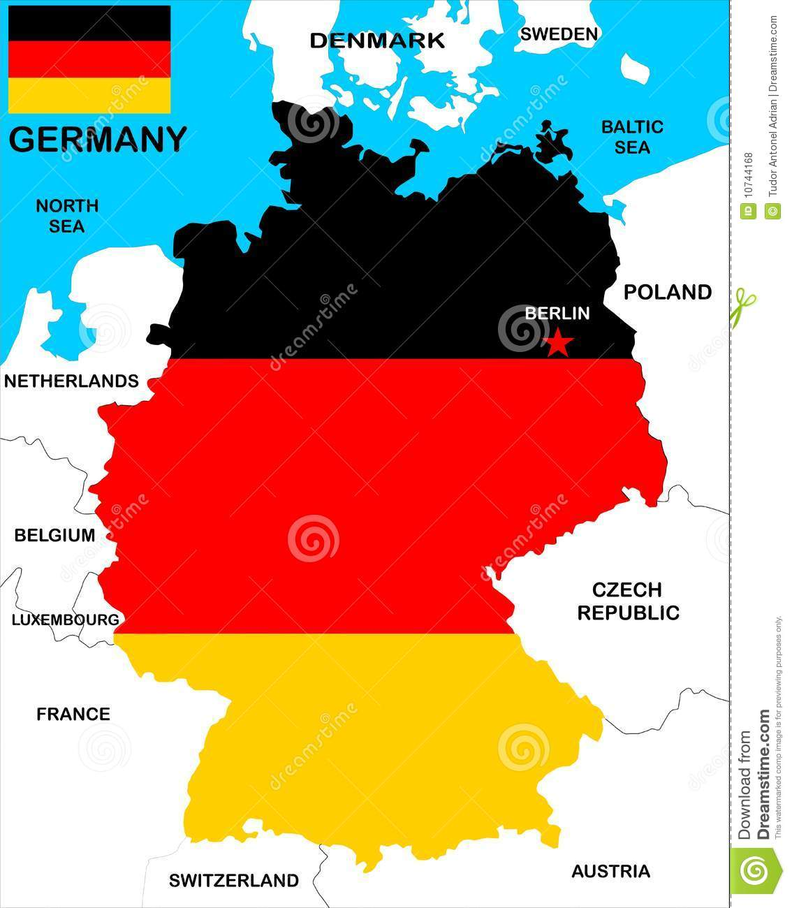 Germany Map Royalty Free Photos Image 10744168 – Germsny Map