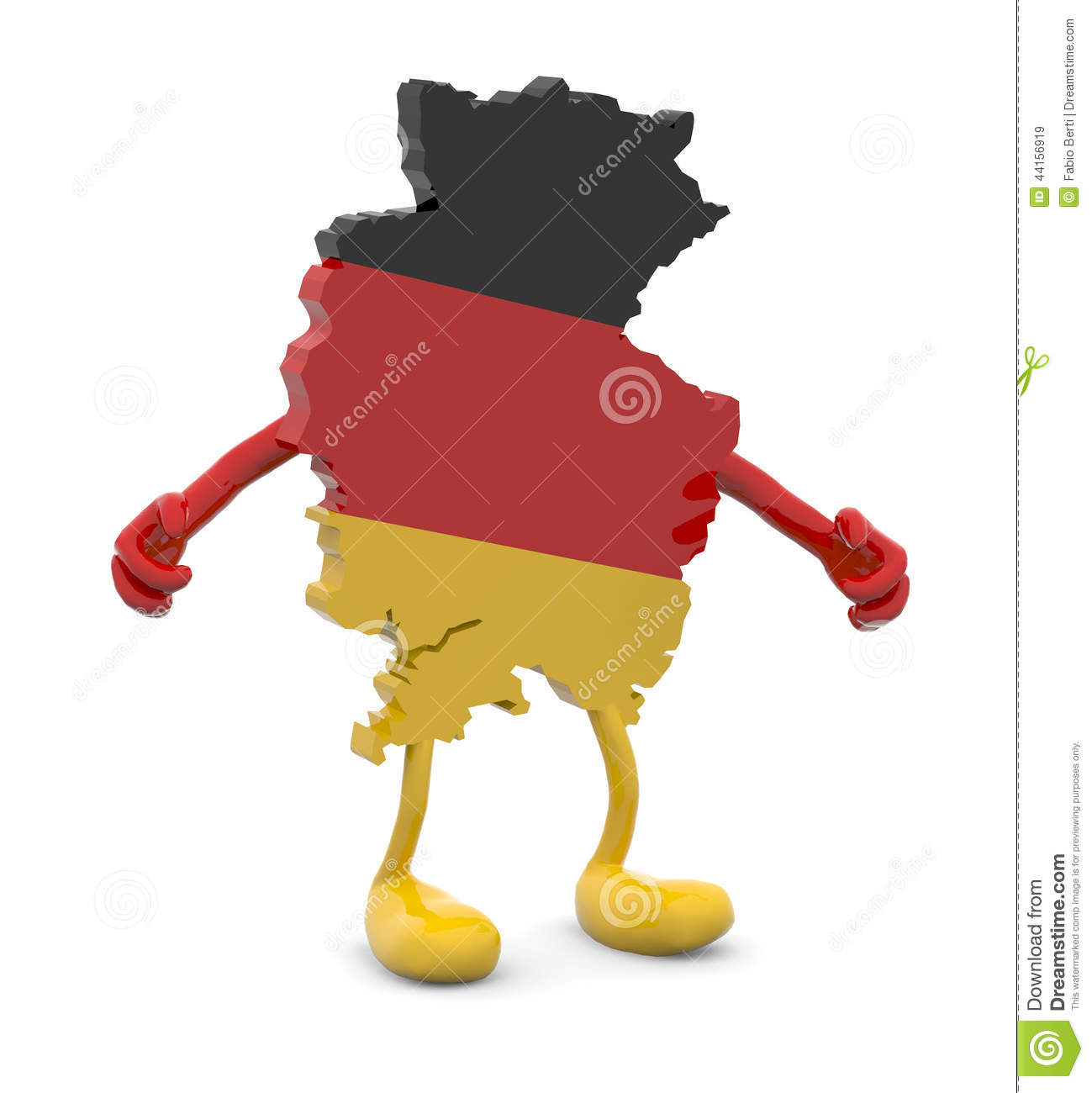 Germany map with arms and legs ...