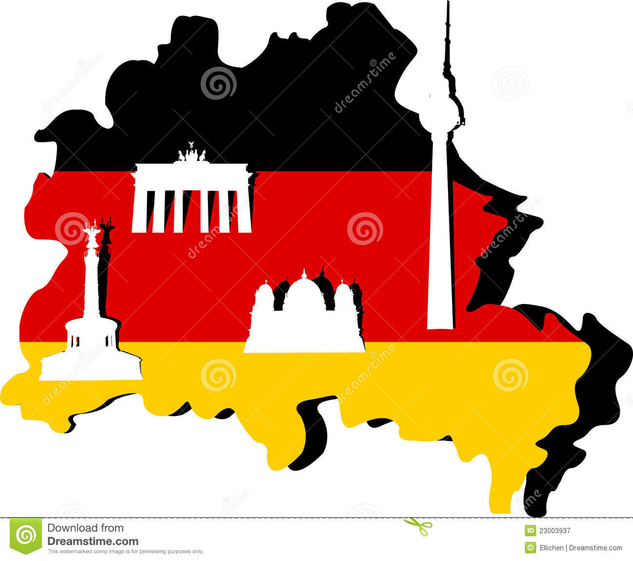 Germany Map And Berlin Stock Illustration Image Of Hamburg - Germany map cartoon