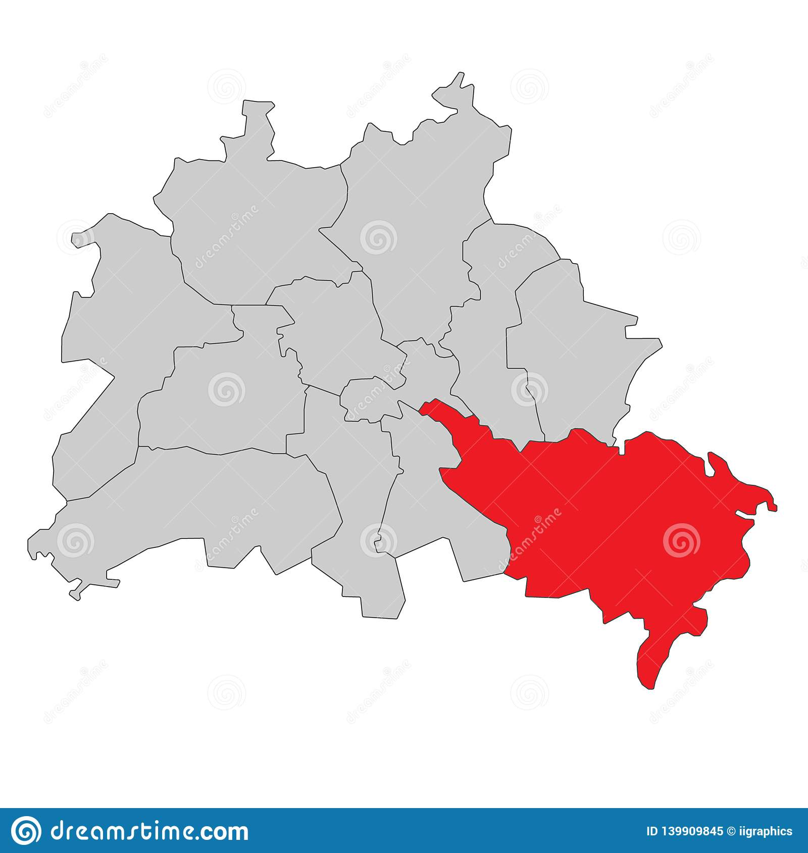 Germany Map Berlin.Germany Map Of Berlin High Detailed Stock Illustration
