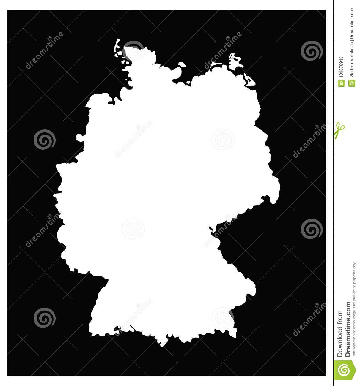 Central Germany Map.Germany Map Country In Central Western Europe Stock Vector