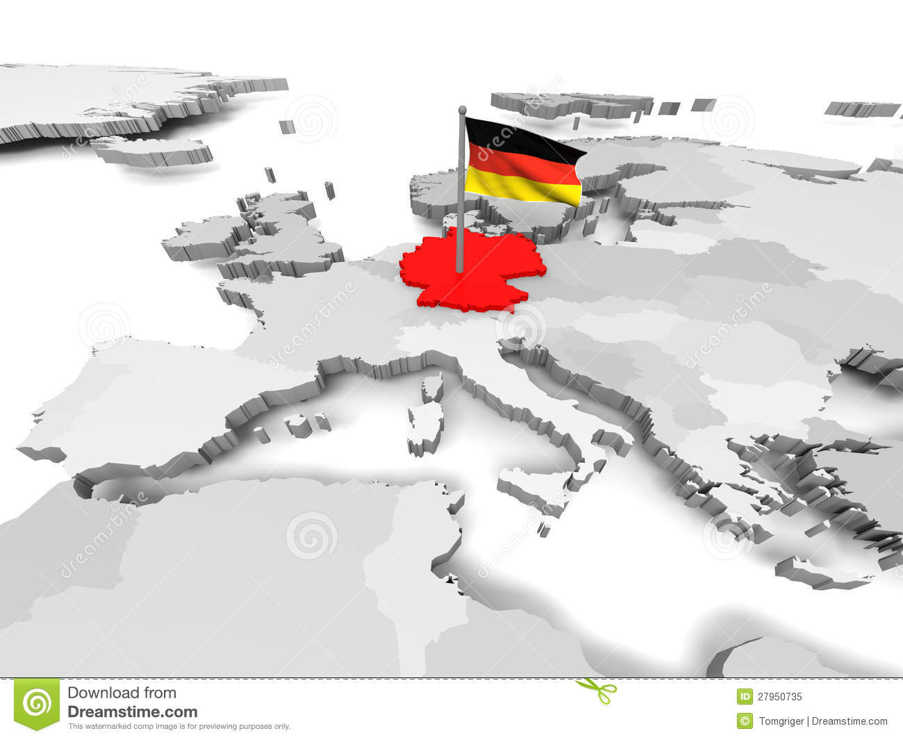 Germany an map of Europe stock illustration Illustration of