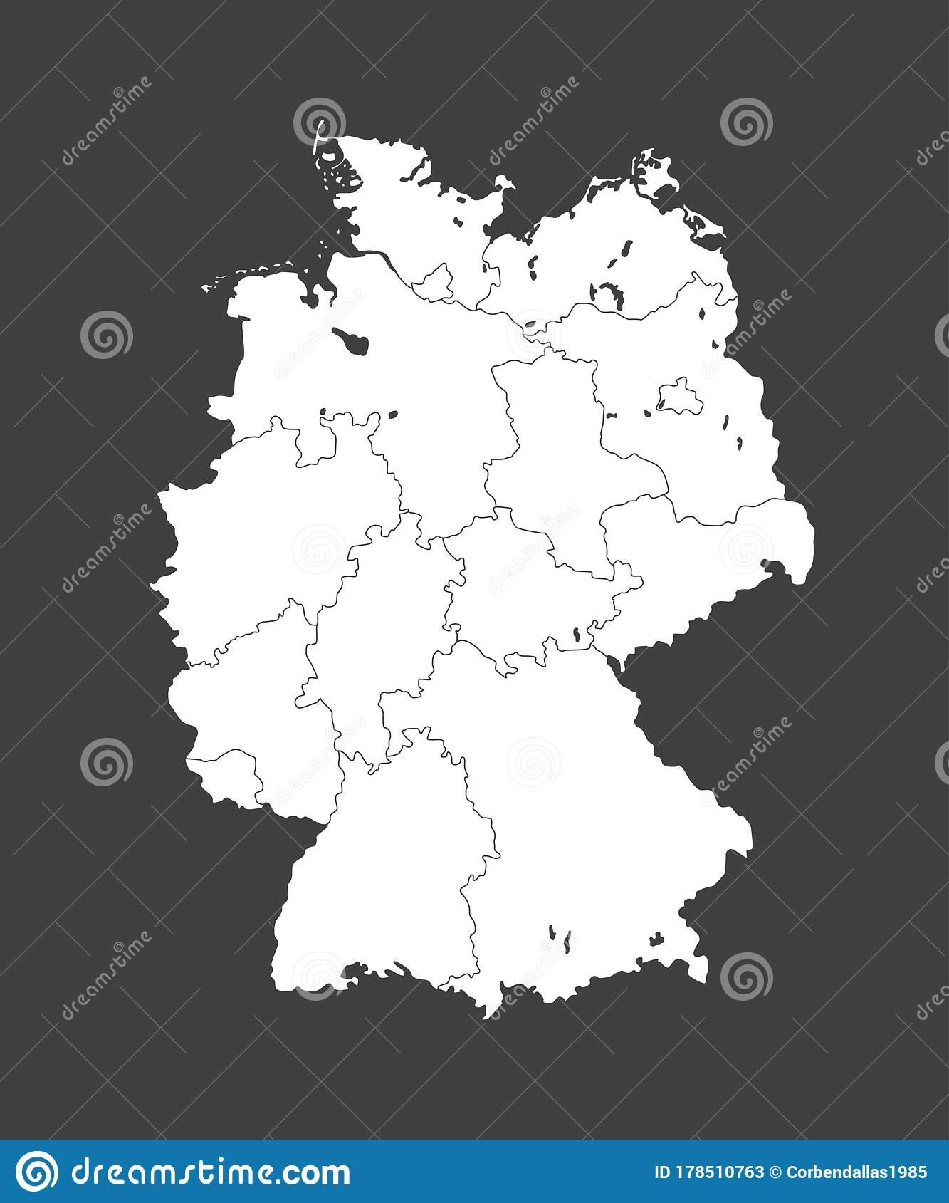 Picture of: Germany Map Europe Country Map Vector Template Stock Vector Illustration Of Germany Location 178510763