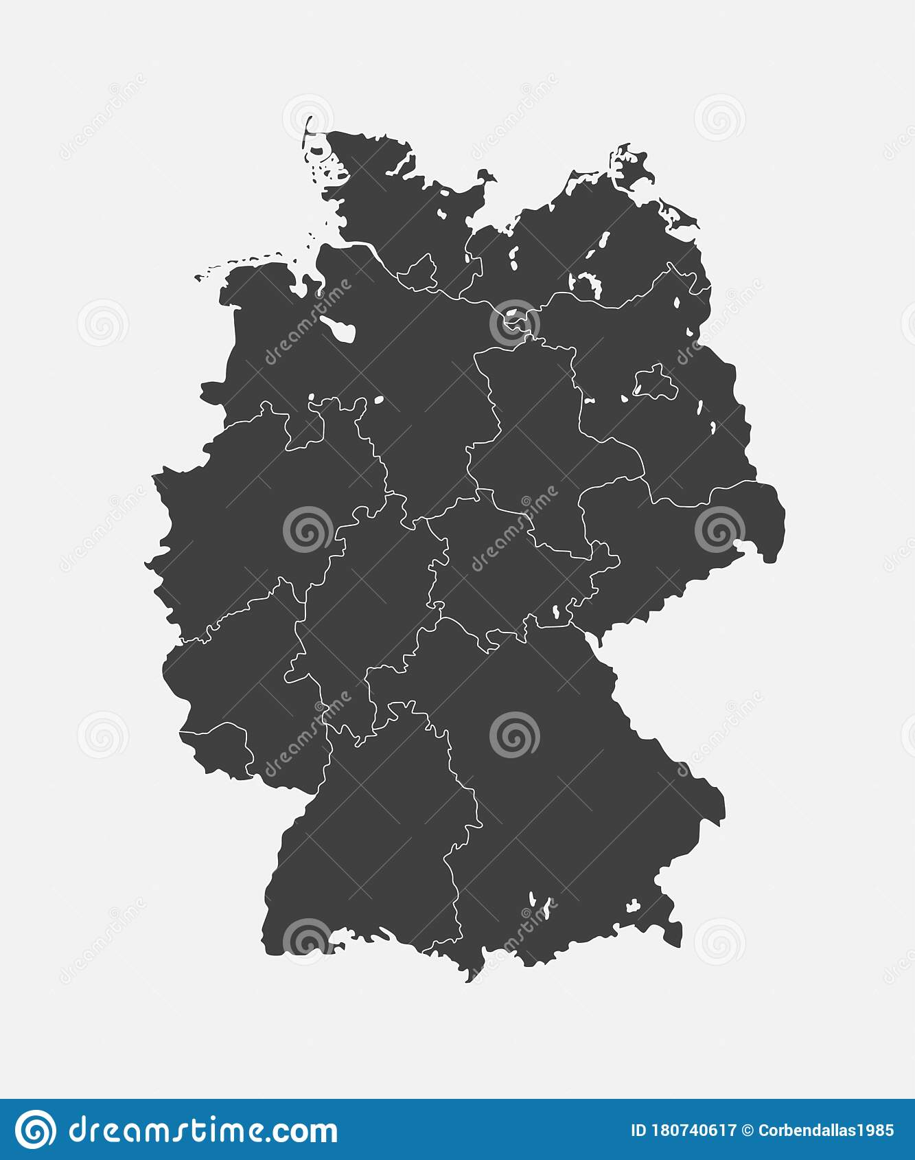 Picture of: Germany Map Europe Country Map Vector Template Stock Vector Illustration Of International Banner 180740617