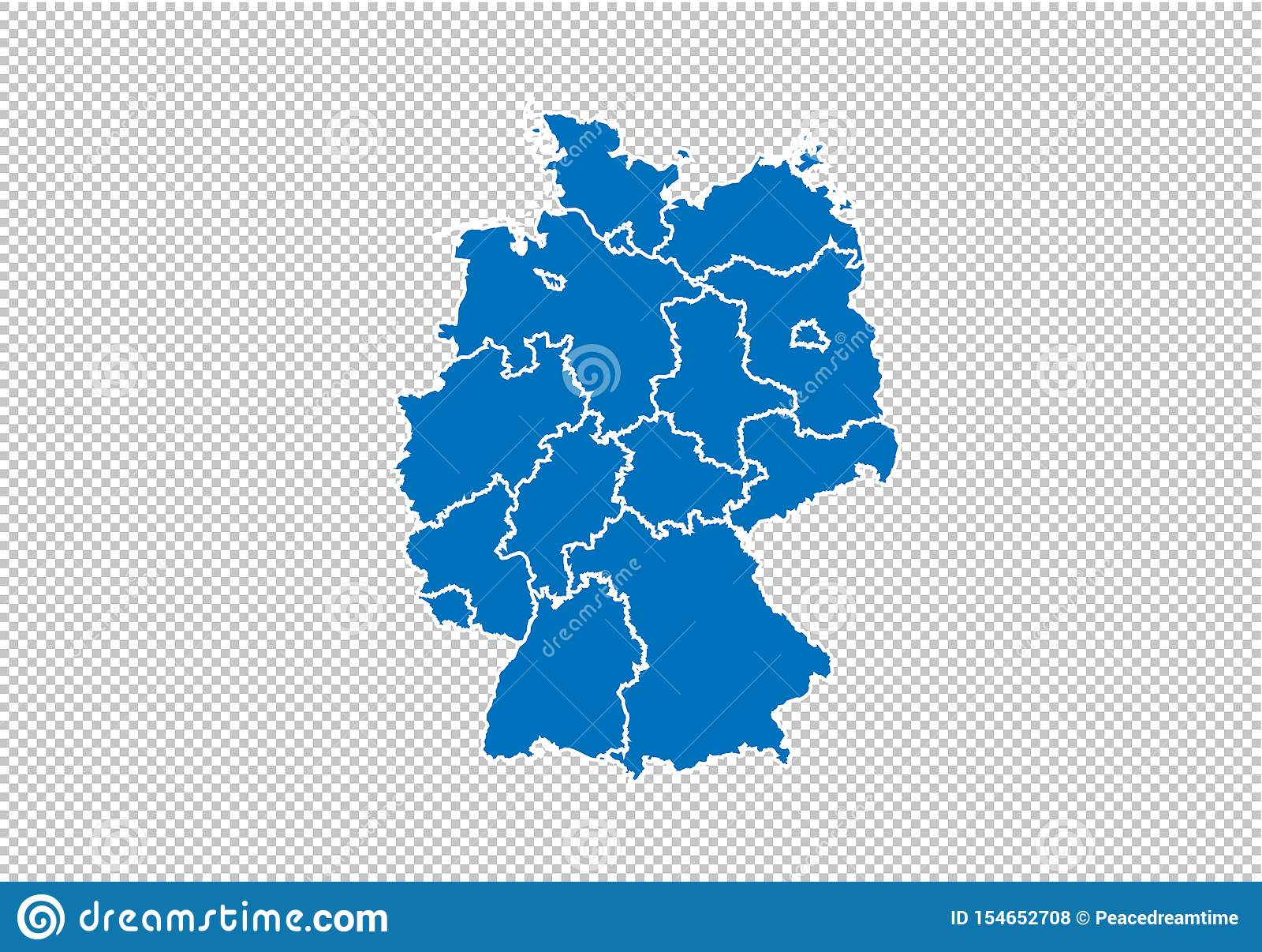 Germany Map High Detailed Blue Map With Counties Regions States Of Germany Nepal Map Isolated On Transparent Background Stock Vector Illustration Of Graphic Contour 154652708