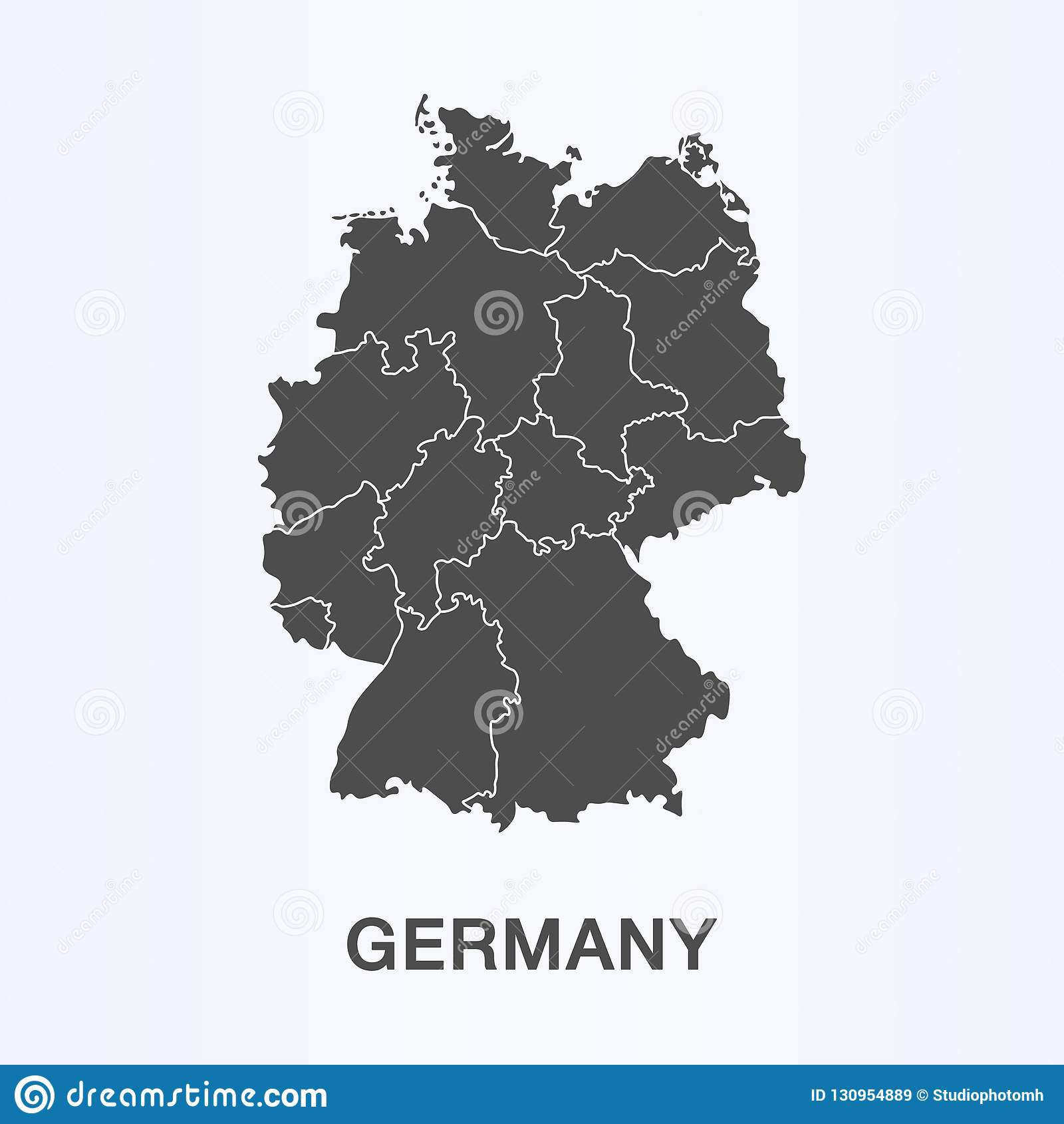 Country Of Germany Map.Germany Map Vector European German Country Icon Stock Vector