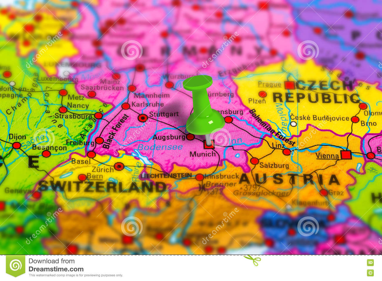Germany Munich Map Stock Photo Image - Germany map download