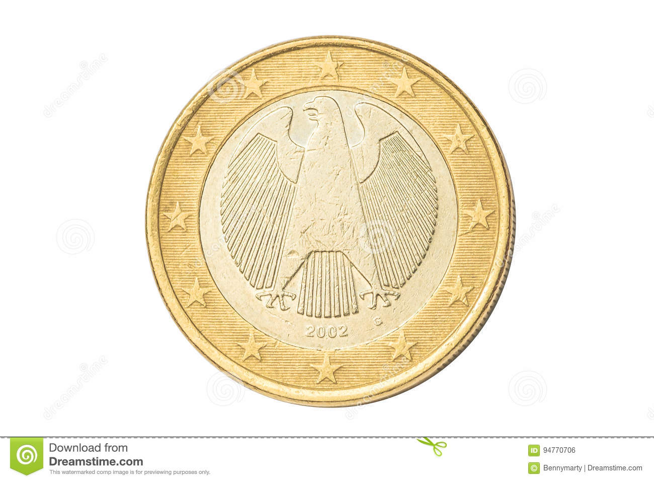 Germany One Euro Coin Stock Photo Image Of Cash Fund 94770706