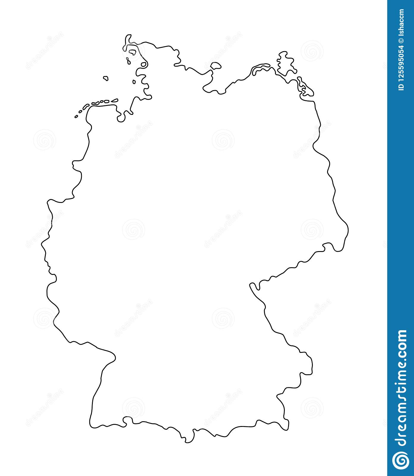 Outline Map Of Germany.Germany Outline Map Vector Illustration Stock Vector Illustration