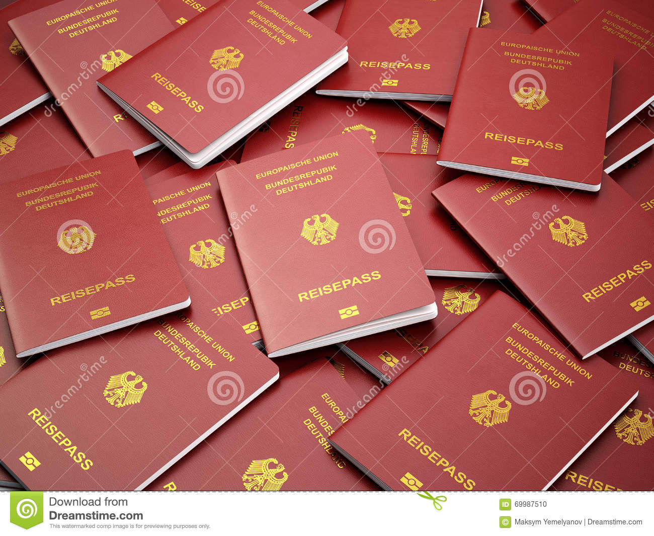 How To Get A German Passport Germany Passport White Background Stock Photo  Image: 50411932
