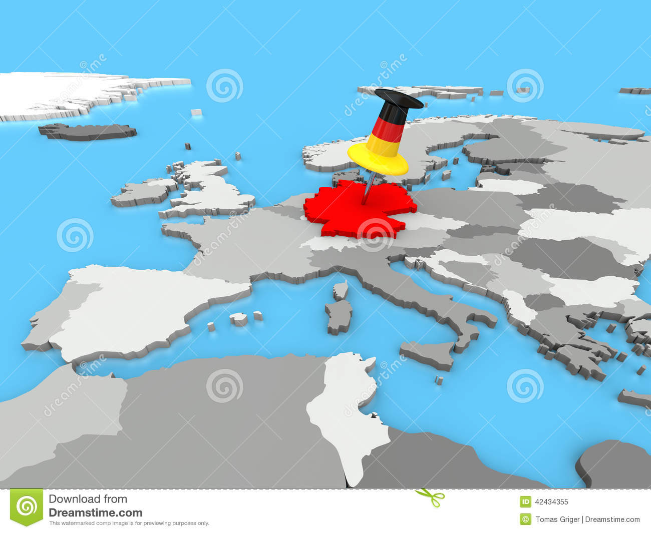 Germany On Europe Map Images Image 4291054 – Germany in Europe Map