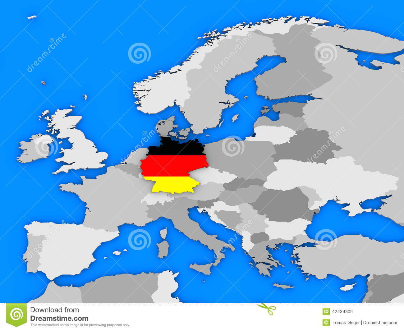 Germany Standing Out Of Map Illustration Image 42434309 – Germany Europe Map