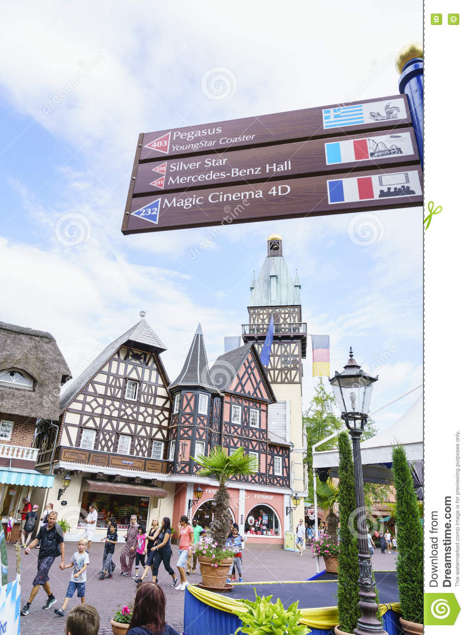 Europa Park Karte.Germany Themed Area Europa Park In Rust Germany Editorial