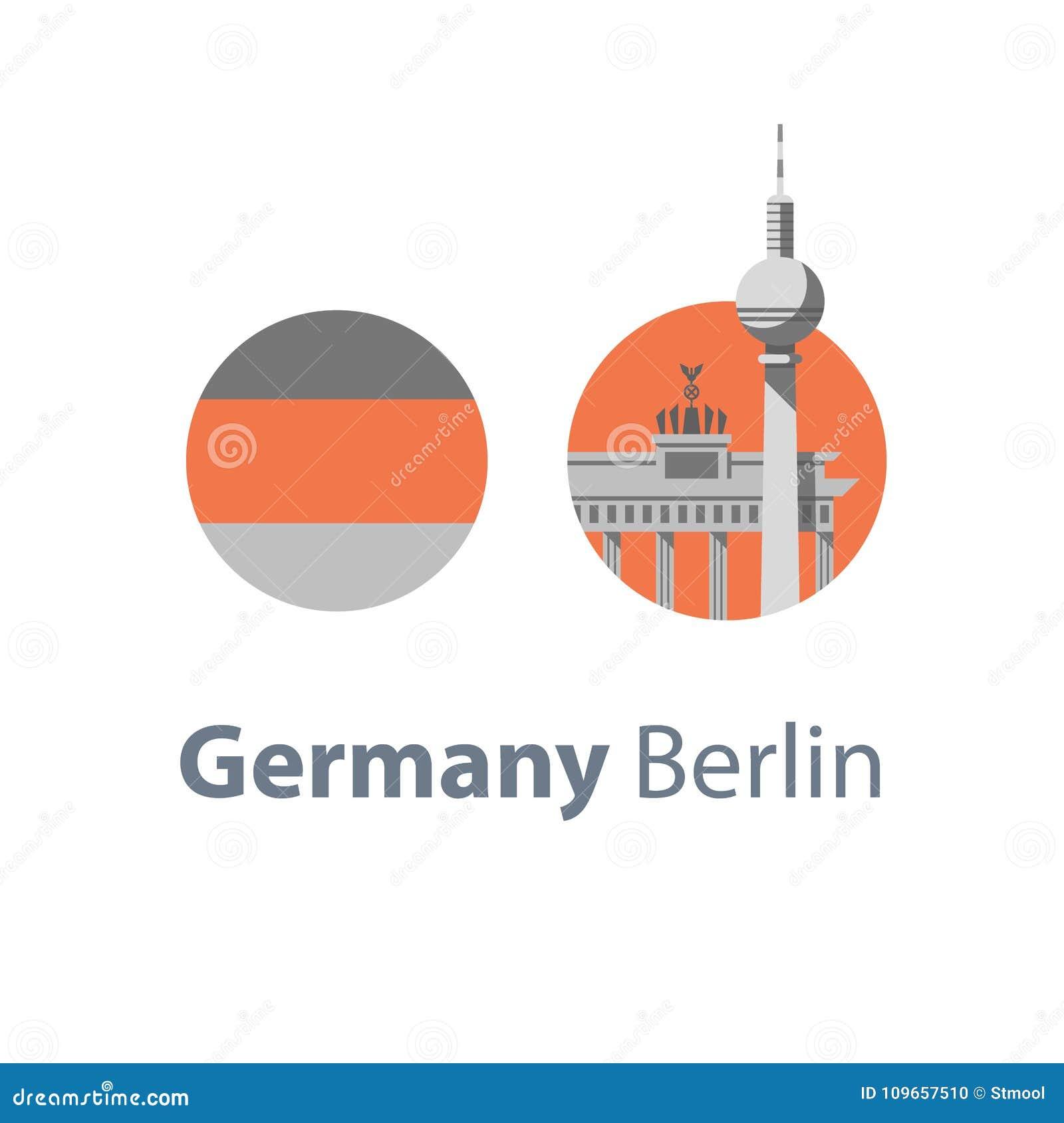 Berlin Symbol Brandenburg Gate And Tower Germany Travel Download Destination Famous Landmark